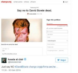 """David Bowie, petizione italiana contro la morte del """"Duca"""""""