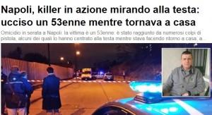 Camorra Napoli: Mario Volpicelli ucciso con 3 colpi in testa