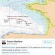 YOUTUBE Cargo francese alla deriva nel mare in tempesta