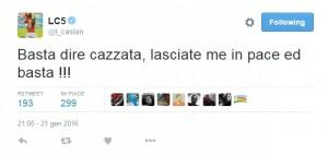 Guarda la versione ingrandita di Leandro Castan su Twitter: Lasciatemi in pace. Il cancro...