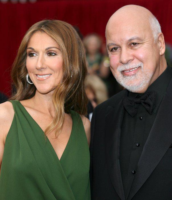 Celine Dion con il marito René Angéli (foto Ansa)