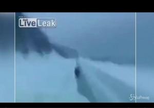 Guarda la versione ingrandita di VIDEO Cinghiale corre nella neve e inchioda meglio di...