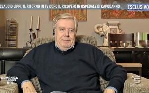 Guarda la versione ingrandita di Claudio Lippi a Domenica Live su Capodanno, Renzi…