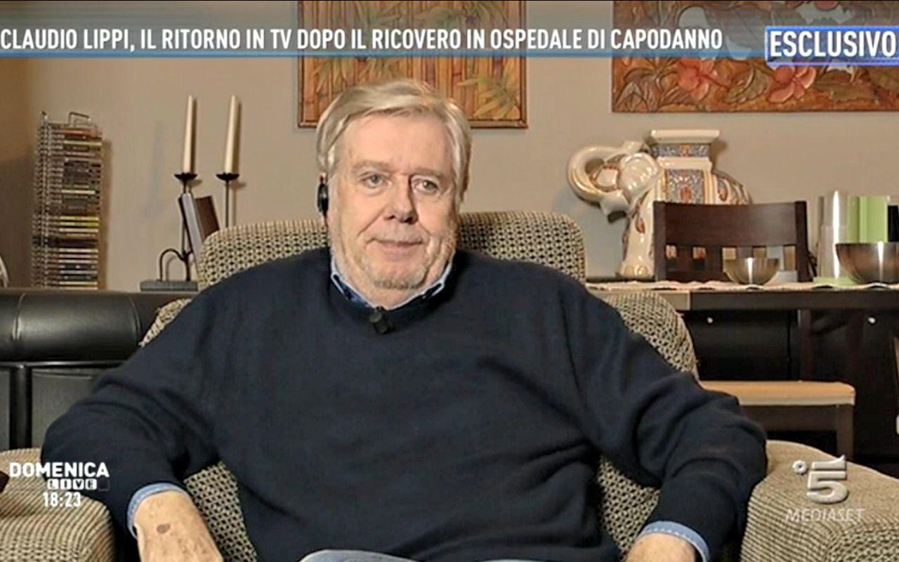 Claudio Lippi a Domenica Live su Capodanno, Renzi...