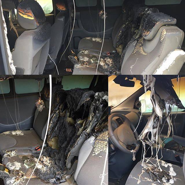 Clementino, auto bruciata e lui mette le FOTO su Facebook
