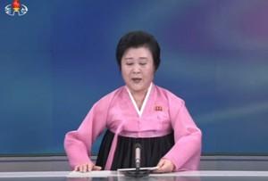 La reporter annuncia il test alla tv coreana di stato Krt