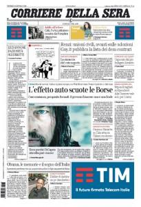 Guarda la versione ingrandita di Le prime pagine dei giornali: Unioni civili, Renault