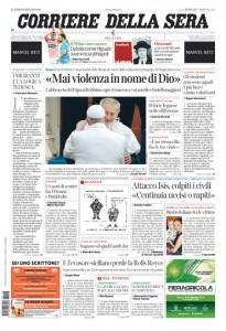 Guarda la versione ingrandita di Papa Francesco, Siria: le prime pagine dei giornali