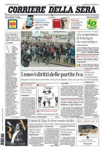 Guarda la versione ingrandita di Migranti, unioni civili, Juve-Roma: prime pagine 25 gennaio
