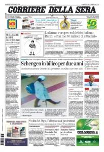 Guarda la versione ingrandita di Prime pagine dei giornali del 26 gennaio 2016