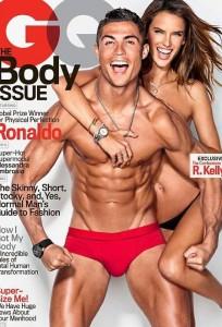 Cristiano Ronaldo e Alessandra Ambrosio nella copertina di GQ
