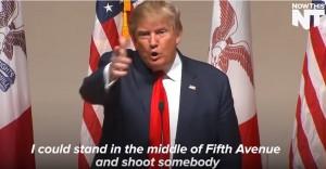 YOUTUBE Trump: Potrei sparare a qualcuno e avere ancora voti
