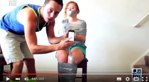 YOUTUBE Duct Tape Challenge. Sfida virale fa quasi il morto6