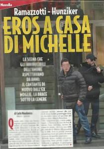Michelle Hunziker, incontro segreto con Eros Ramazzotti. La copertina di Novella 2000