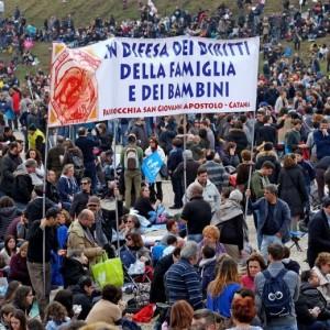 Guarda la versione ingrandita di Family Day contro unioni civili: Siamo 2 mln Renzi ascoltaci
