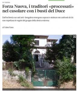 Guarda la versione ingrandita di Il casale di via Tiberina 801 nell'articolo del Corriere Roma