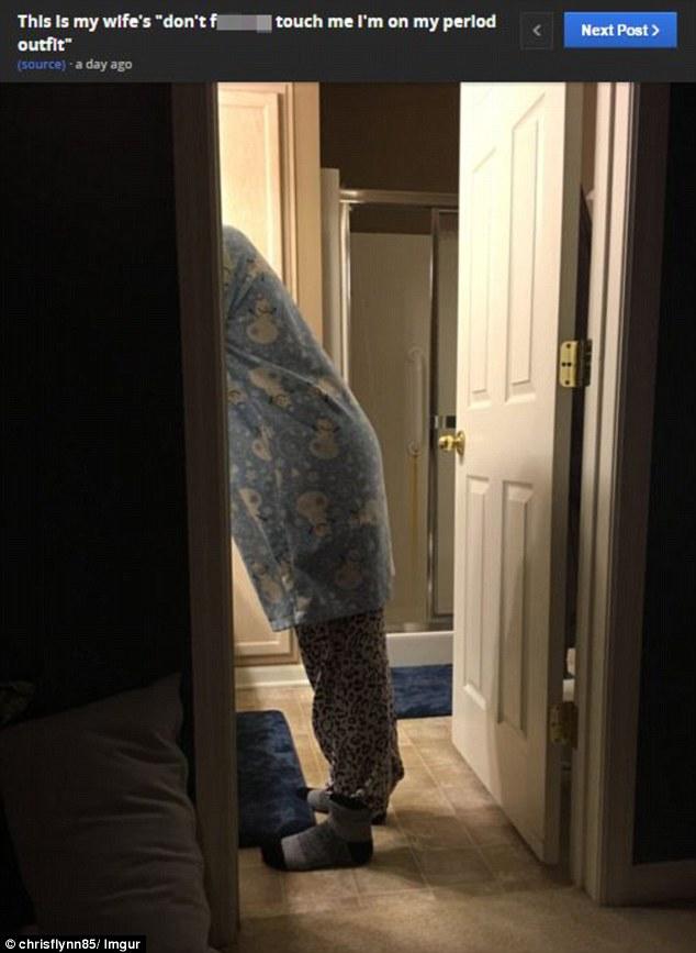 Moglie con ciclo mestruale FOTO su Reddit con pigiamone e...