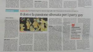 Salerno, prete anti gay sorpreso ad una festa...gay