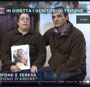"""Guarda la versione ingrandita di Trifone Ragone, genitori: """"Basta infangare, lui e Giosuè…"""""""