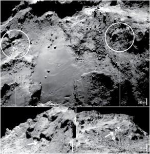 Rosetta, trovato ghiaccio d'acqua su superficie cometa