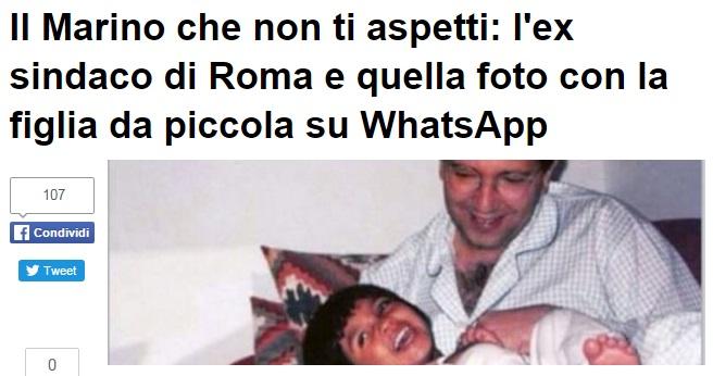 Ignazio Marino, FOTO profilo Whatsapp con la figlia