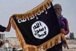 Guarda la versione ingrandita di La bandiera nera del cosiddetto Isis