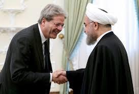 Rouhani in Italia, Gentiloni gli soorride