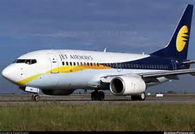 Guarda la versione ingrandita di Un aereo della Jet Airways