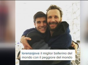 Guarda la versione ingrandita di Roberto Bolle nel backstage del concerto di Jovanotti VIDEO