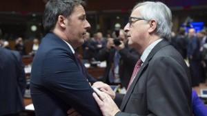 """Juncker a muso duro contro Matteo Renzi: """"Di che ti lamenti?"""