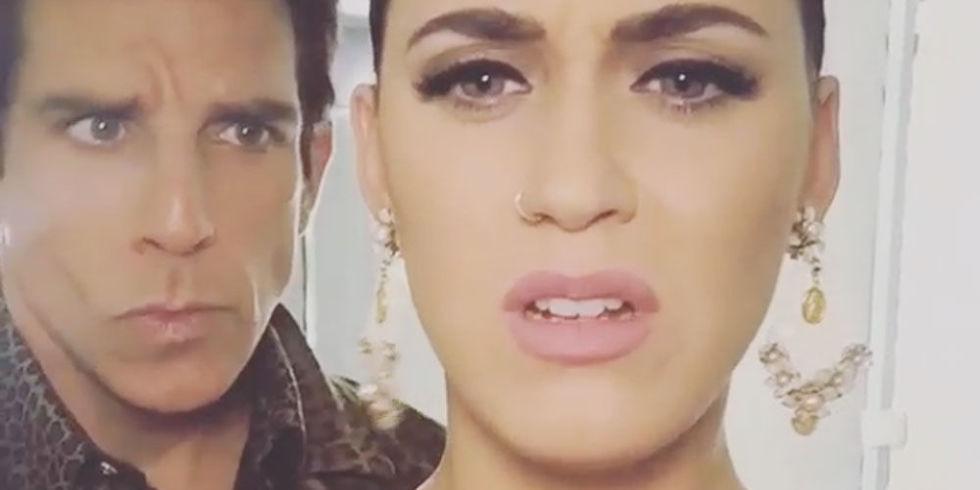 """Katy Perry interrotta da Ben Stiller mentre canta """"Relax"""""""