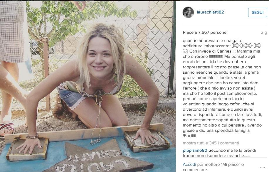Laura Chiatti sbaglia post, polemiche: lei lascia Instagram