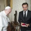 """Leo DiCaprio saluta Papa in italiano: """"Grazie per l'udienza""""04"""