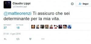 Guarda la versione ingrandita di Claudio Lippi tweet a Renzi: Sei determinante per mia vita