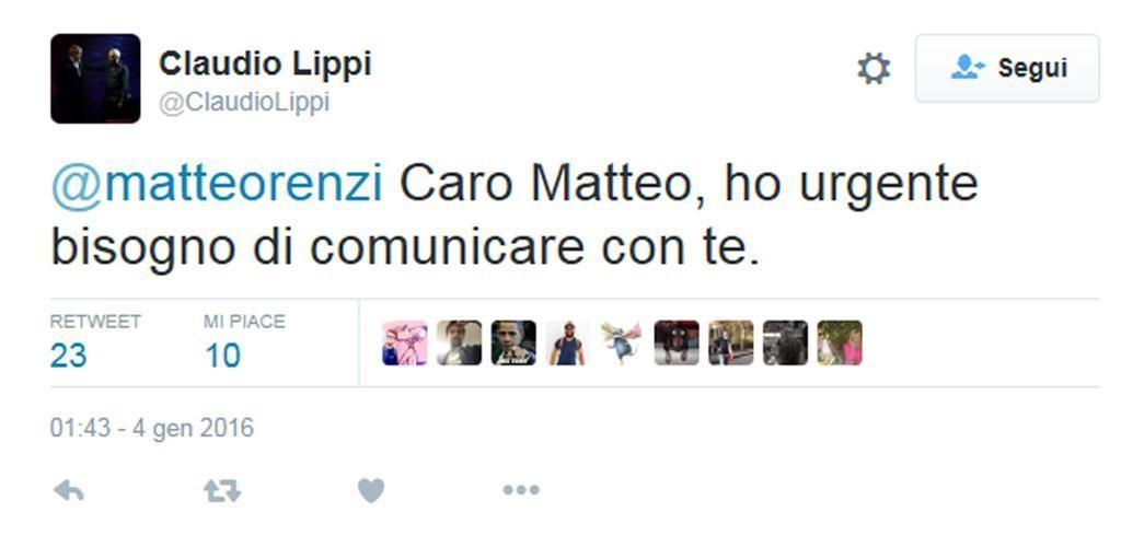 Claudio Lippi tweet a raffica a Renzi: Sei importante per me 4