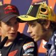 Marc Marquez e Valentino Rossi (foto Ansa)