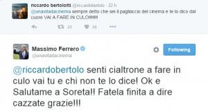 Guarda la versione ingrandita di Massimo Ferrero manda a fare in c... tifosi Samp su Twitter