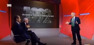 YOUTUBE Enrico Mentana contro Bobo Craxi per serie tv 1992