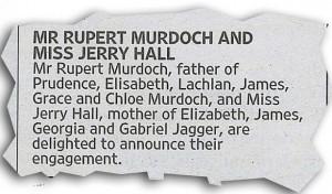 Guarda la versione ingrandita di Rupert Murdoch annuncia fidanzamento con Jerry Hall FOTO