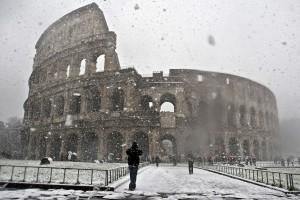 Neve a Roma, allerta della Protezione Civile