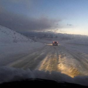 Guarda la versione ingrandita di La neve in provincia di Campobasso (foto Ansa)