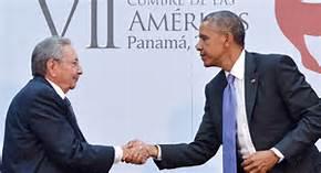 Obama e Raoul Castro