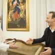 Papa Francesco: FOTO con Roberto Benigni e Marina Berlusconi