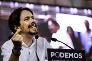 Pablo Iglesias di Podemos (foto Ansa)