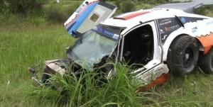 Guarda la versione ingrandita di Rally Dakar: scontro tra camion, un morto
