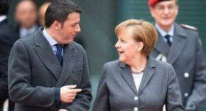 """Renzi alla Merkel: """"Non chiamare prima Hollande"""""""