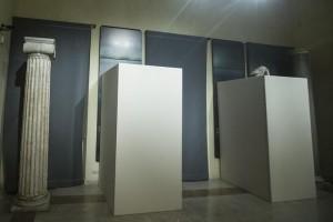 Guarda la versione ingrandita di Le statue dei musei capitolini censurate per la visita di Rohani (foto Ansa)