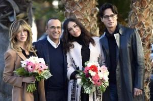 Sanremo: Madalina Ghenea, Virginia Raffaele Garko con Conti6