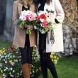 Sanremo: Madalina Ghenea, Virginia Raffaele Garko con Conti11