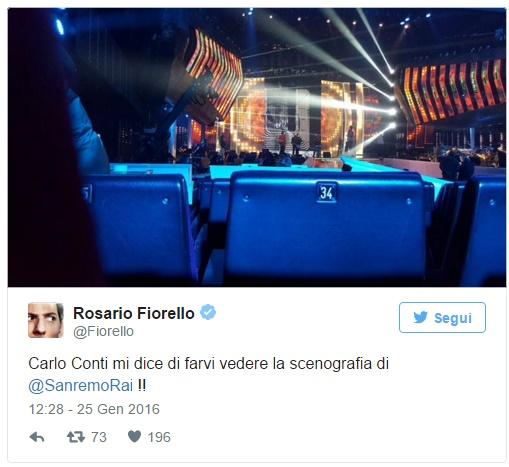 Sanremo: Fiorello twitta scenografia. Sarà ospite?
